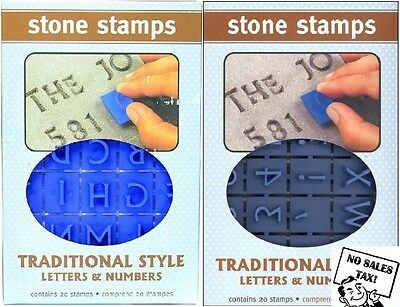 Concrete Stepping Stone Stamps Bilateral Traditional Letters and Numbers