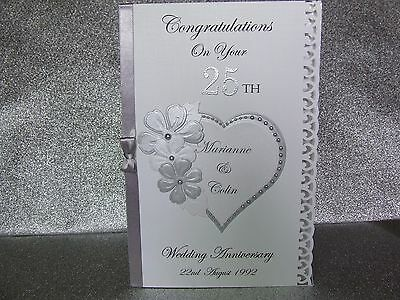 Personalised Wedding Anniversary Card Silver Golden Ruby 50th 25th 40th etc