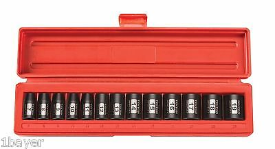 "TEKTON 3/8"" Hand Tool Drive Shallow Impact ANSI Performance Metric Socket Set"