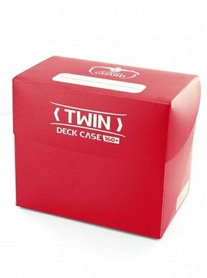ULTIMATE GUARD Twin Deck Case Box Holds 160+ Cards Storage - Red