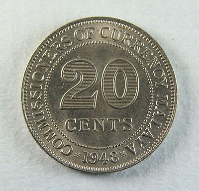1948 George VI 20 Cents Malaya; Old album collection!
