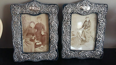 Pair of matching Edwardian Sterling Silver photo frames,Henry Matthews 1905