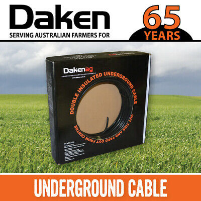 100m Electric Fence Insulated 1.6mm galvanised wire underground cable DAKEN