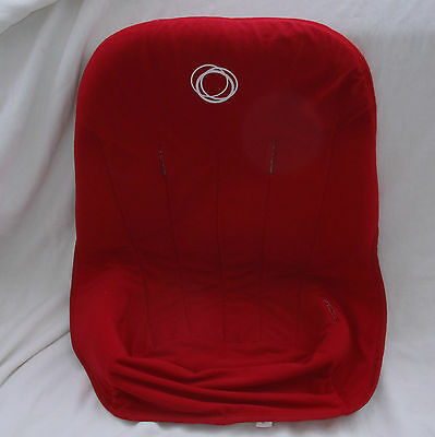 Red Bugaboo Cameleon Fleece Stroller Toddler seat cover Fabric liner baby EUC