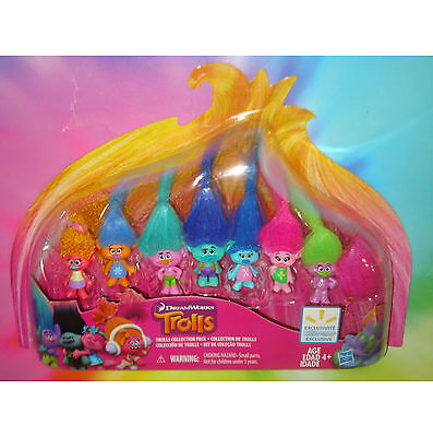 TROLLS 2016 MOVIE - 8 DOLLS Exclusive Collector's Collection Pack Set DREAMWORKS