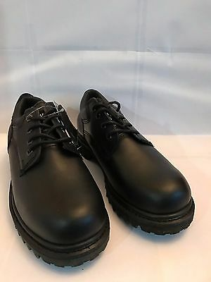 "NEW Men's Black Services 4"" Oxford Leather Oil Resistant Oxford Shoes Sz8.5 - 15"