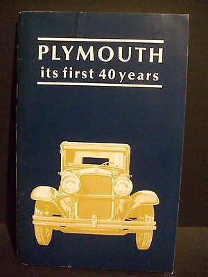 Plymouth - Its First 40 Years - Chrysler-Plymouth Division