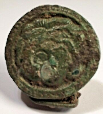 Ancient Roman Brooch Enameled Ancient Deity, Museum Quality Exact 'reproduction'