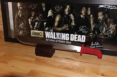 Rick Grimes Red Machete Prop/Replica with stand~~The Walking Dead~~