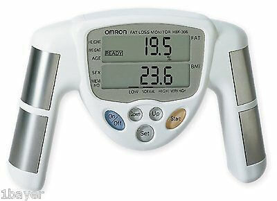 Omron Body Fat Yoga Micro Electrical Current Sensor Fitness Detector Monitor