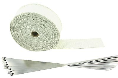 """SWI Parts 2"""" x50ft Roll White Racing Fiberglass Exhaust Header Pipe Wrap Tape..."""