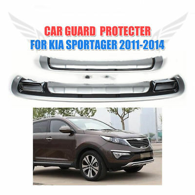 ABS Front Rear Bumper Protector Guard Cover Plate Fit for Kia Sportage 2011-2014