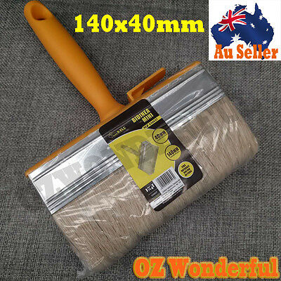 3pcs x 140mmx40mm PAINT BRUSHES STRAIGHT PROFESSIONAL PAINTING HOUSE ROOF BRUSH