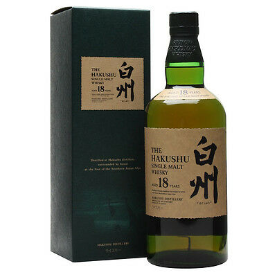Hakushu 18 yearOld Single Malt Japanese Whisky 700mL