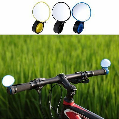 1Pc Adjustable 360 Degree Rotatable Bicycle Bike Handlebar Rear View Mirror New