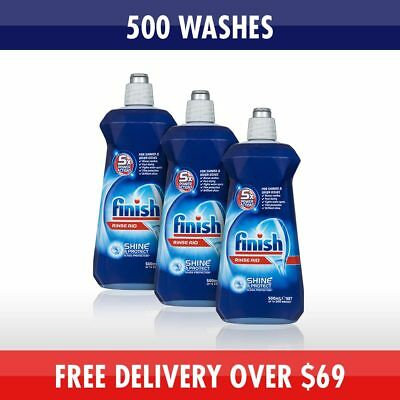 3x Finish Dishwasher Rinse Aid 500ml bulk pack