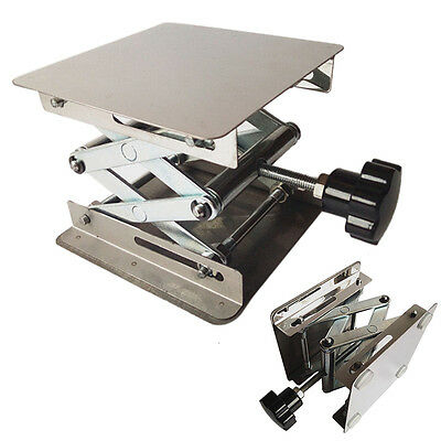 4x4'' Stainless Steel Scientific Lab Stand Lifting Platform Stand Rack 100mm