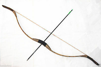 45lb Handmade Traditional Recurve Bow Simulate SnakeSkin Mongolian Longbow