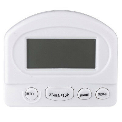 Mini LCD Count Down/Up Kitchen Timer Magnetic & Clip Mounting Alarm Cooking LW