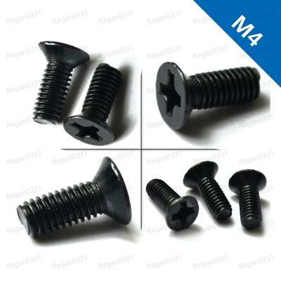M4 Black Oxide Phillips Cross Recess Countersunk Flat Head Machine Screws