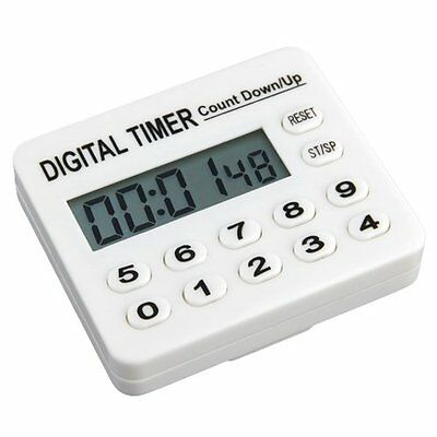Home Kitchen Cooking Digital Count Down Up Timer AlArm LW
