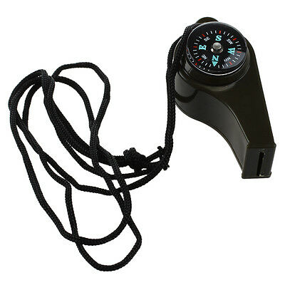 3 In 1 Survival Whistle With Compass Thermometer LW