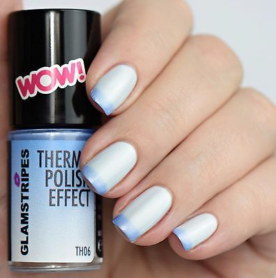 Thermo Effect Polish Nagellack - Pearl White To Light Blue - New - 5006