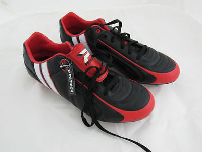 Mens Patrick Power X Changable Studs Rugby Boots Black Red Toe UK 15 EU 50 FD1