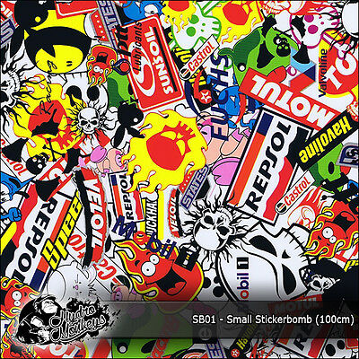 1m of Small Stickerbomb (SB01) 100cm hydrographics water transfer film