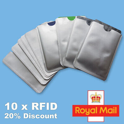 3x RFID Blocking Sleeve Credit Card Protector Bank Card Holder for Wallets UK