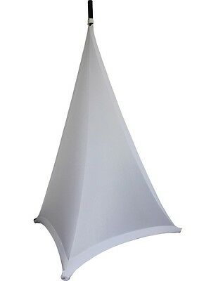 Ibiza Light Double Sided Speaker Stand Scrim White 1.2M DJ Disco