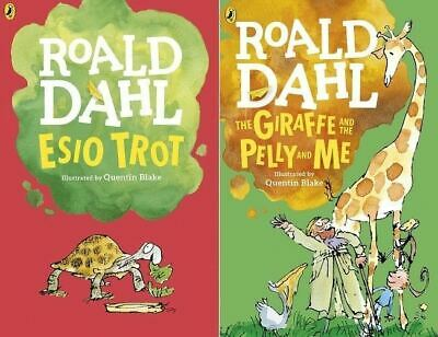 Esio Trot & The Giraffe and the Pelly and Me by Roald Dahl (2 Books)