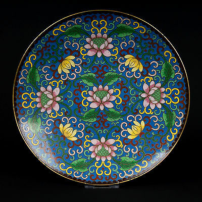 China 20. Jh. Teller - A Chinese Cloisonne Enamel Dish - Piatto Cinese Chinois
