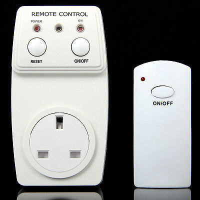 Wireless Remote Control Switch Home Mains Outlet UK Plug AC Power Socket Adater