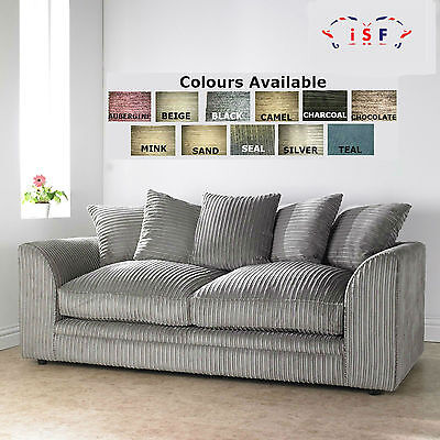 Dylan/Chicago Jumbo Cord Quality Fabric 2 Seater Sofa -10+ Colours Available
