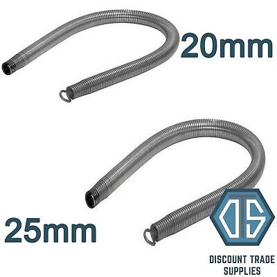 20mm + 25mm HEAVY GAUGE UNIVOLT PVC CONDUIT BENDING SPRINGS FREE DELIVERY