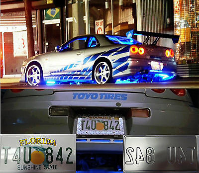 The Fast and The furious movie license plate Brian Oconnor Nissan Skyline