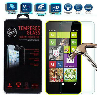 Genuine Real Tempered Glass LCD Touch Screen Protector For Nokia Microsoft Lumia
