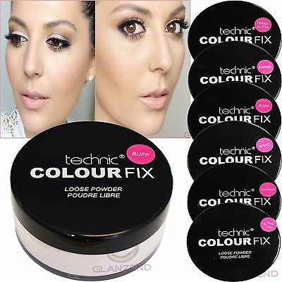 Technic Colour Fix Loose Powder Make-Up Fixing Matte Powder Face Foundation