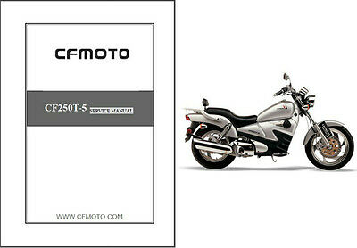 CFMoto V5 Cruz 250 / V5 Sport Cruiser ( CF250T-5 ) Service Manual on a CD