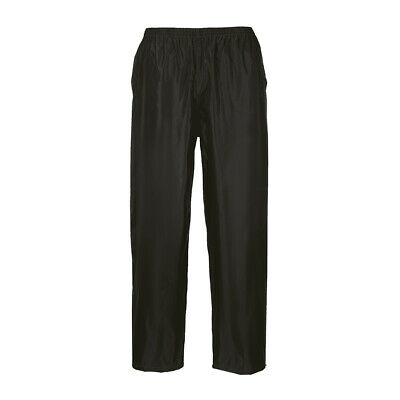 Portwest Classic Adult Rain Pants Sizes S-6Xl S441 Elastic Waistband Gen Fit