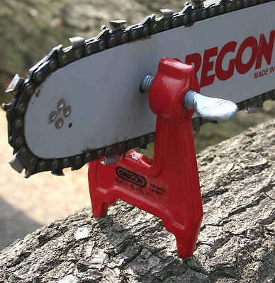NEW GENUINE OREGON CHAINSAW SHARPENING BAR FILING CLAMP VICE  red clamp