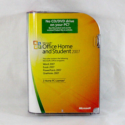 Microsoft Home and Student 2007 Retail (3 Users) - Full Version Retail Box