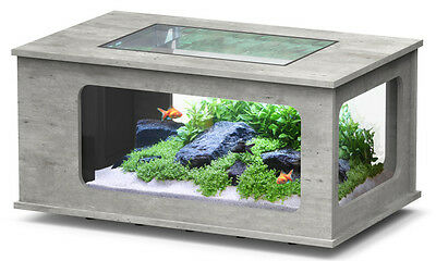 AQUARIUM TABLE BASSE TABLE AQUARIUM ASPECT BETON 313 LITRES Réf Z3087150