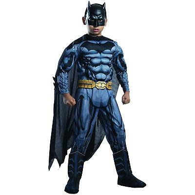 NEW Child Deluxe Muscle Chest Batman Costume Dark Knight M 8/10 DC Comics 3D