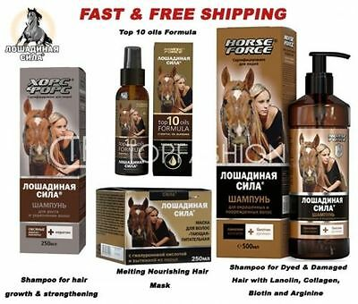 HORSE FORCE SHAMPOO hair growth & strengthening, melting mask/balm/oil/cream