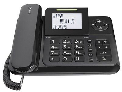 Doro Comfort 4005 DECT GAP Corded Phone with Answering Machine Black