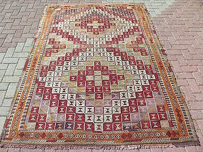 "Large Turkish Kilim Rug,Antalya Rug 70,4"" x 98,4"" Floor Rug,Area Rug Carpet"