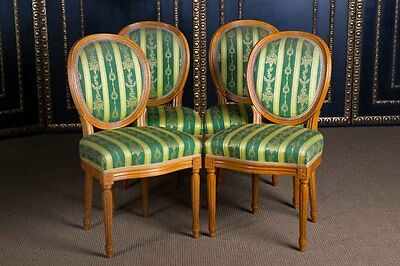 4 High quality Chairs in the Louis Seize Style Residential ready