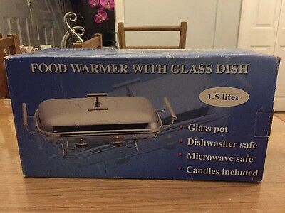 Food Warmer With Glass Dish 1.5 Litre